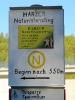 Anfang der Beschilderung des Harzer Naturistenstieges