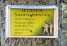 Schild vom Harzer Naturistenstieg